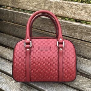Gucci Guccissima Camelia Leather Emily Bag RED